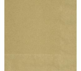 Popierinės servetėlės / auksinės (20 vnt./33x33 cm.)