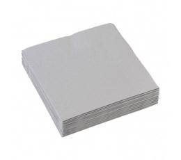 Popierinės servetėlės / pilkos (20 vnt./25 x 25 cm.)
