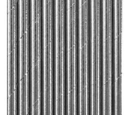 Popieriniai šiaudeliai / sidabriniai (10 vnt./19.5 cm.)