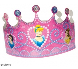 Princesės tiara karūna/blizgi (6 vnt./AKCIJA)