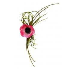 Gėlių papuošimas, žaliai rožinis (19x5cm)