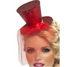 Raudona skrybėlaitė su tinkleliu (1 vnt)