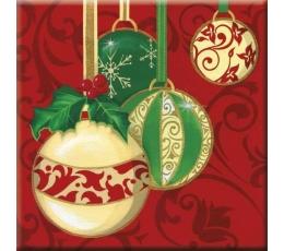 """Servetėlės """"Kalėdiniai burbulai"""" (33x33cm./20vnt)"""