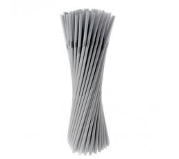 Plastikiniai šiaudeliai, sidabriniai (50 vnt./ 20 cm)