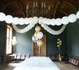 Dekoravimo balionai, sidabriniai (100vnt./29cm.) 1