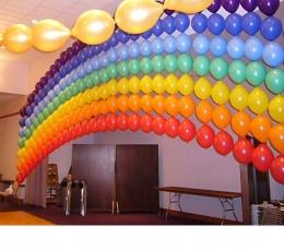 Dekoravimo balionai, sidabriniai (100vnt./29cm.) 2