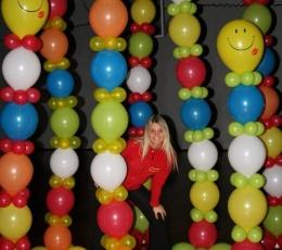 Dekoravimo balionai, sidabriniai (100vnt./29cm.) 3