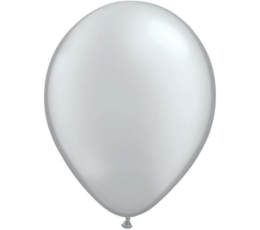 Sidabriniai perlamutriniai balionai (100vnt./28cm.Q11)