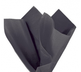 Šilkinis popierius / juodas (10vnt./66cm x 51cm)