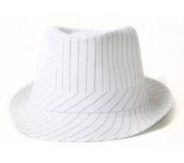 Skrybėlė dryžuota balta