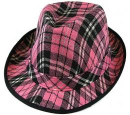 Skrybėlė / rožinė languota