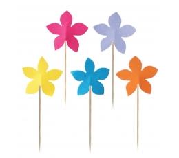 "Smeigtukai ""Įvairiaspalvės gėlytės"" (10 vnt./7.5 cm)"