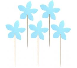 "Smeigtukai užkandžiams ""Melsvos gėlytės"" (10 vnt./7.5 cm.)"