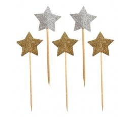 """Smeigtukai užkandžiams """"MIX žvaigždutės"""" (10 vnt./7.5 cm.)"""