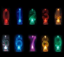 """Žvakutė su spalvą keičiančiu laikikliu """"40"""" (1 vnt.) 1"""