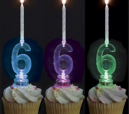 """Žvakutė su spalvą keičiančiu laikikliu """"40"""" (1 vnt.) 2"""