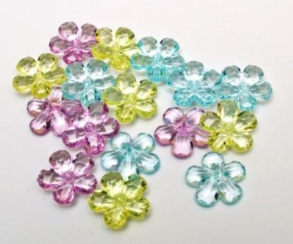 """Stalo konfeti  """"Gėlytės"""" (16 vnt.)"""