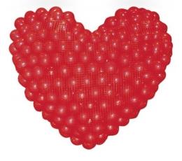 Tinklas balionui / širdis