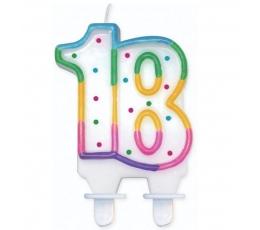 """Torto žvakutė """"18"""" (1 vnt.)"""