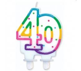 """Torto žvakutė """"40"""" (1 vnt.)"""