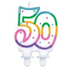 """Torto žvakutė """"50"""" (1 vnt.)"""