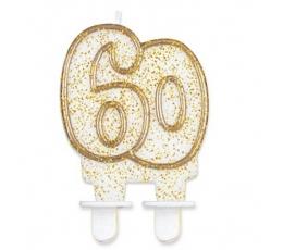 """Torto žvakutė """"60"""" (1 vnt.)"""