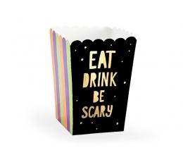 """Užkandžių dėžutės """"Eat drink be scary"""" (6 vnt./8.5x8.5x12.5 cm.)"""