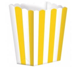 Užkandžių dėžutės/geltonos (5 vnt./6.3*13.4*3.8 cm)