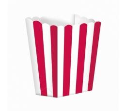 Užkandžių dėžutės/raudonos (5 vnt./6.3*13.4*3.8 cm)