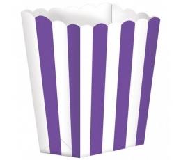 Užkandžių dėžutės/violetinės (5 vnt./6.3*13.4*3.8 cm)