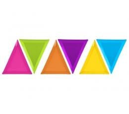"""Užkandžių lėkštutės """"Trikampėliai"""" (6 vnt./19.5 x23.5x 23.5 cm)"""
