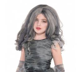 Vaikiškas pilkas perukas
