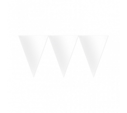 Vėliavėlių girlianda / balta (4.5 m.)