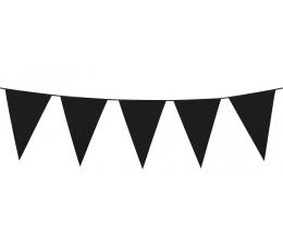 Vėliavėlių girlianda / juoda (10 m.)