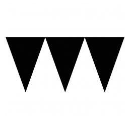 Vėliavėlių girlianda / juoda (4.5 m.)