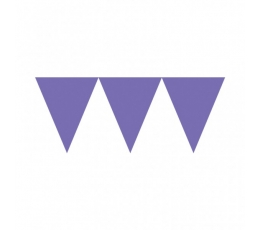 Vėliavėlių girlianda / violetinė (4.5 m.)