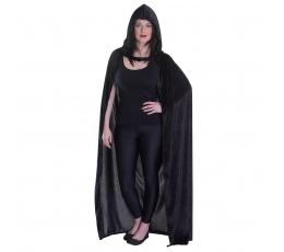 Velvetinis apsiaustas / juodas (1 vnt./140 cm.)