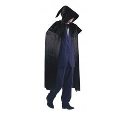 Velvetinis juodas apsiaustas (138 cm.)