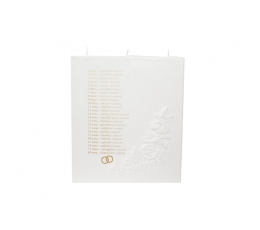 Vestuvių metinių žvakė/burė (18x5x20 cm)