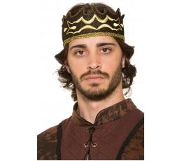 Viduramžių karaliaus karūna / juoda (1 vnt.)