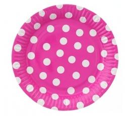 """Lėkštutės """"Burbuliukai"""", rožinės (6 vnt./23 cm)"""