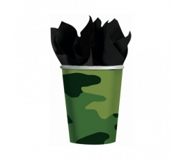 """Vienk. puodeliai """"Karinė maskuotė"""" (8 vnt./266 ml)"""
