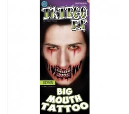 """Vienkartinė tatuiruotė """"Demonas"""""""