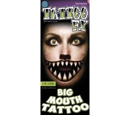 """Vienkartinė tatuiruotė """"Didelė burna"""" (2 vnt.)"""