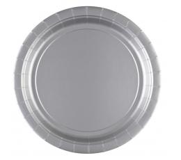 Vienkartinės lėkštutės / sidabrinės (20 vnt./22.9 cm.)