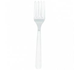 Vienkartinės šakutės / baltos (10 vnt.)