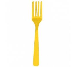 Vienkartinės šakutės / geltonos (10 vnt.)