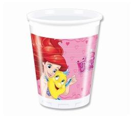 """Plastikiniai puodeliai """"Princesės"""" (8 vnt./200 ml.)"""