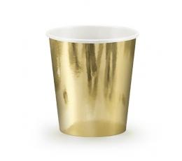 Vienkartiniai puodeliai / auksiniai (6 vnt./180 ml.)