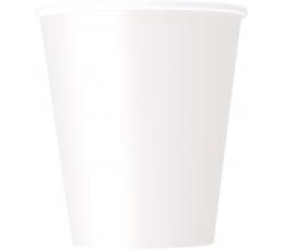 Vienkartiniai puodeliai / balti (8vnt./270 ml.)